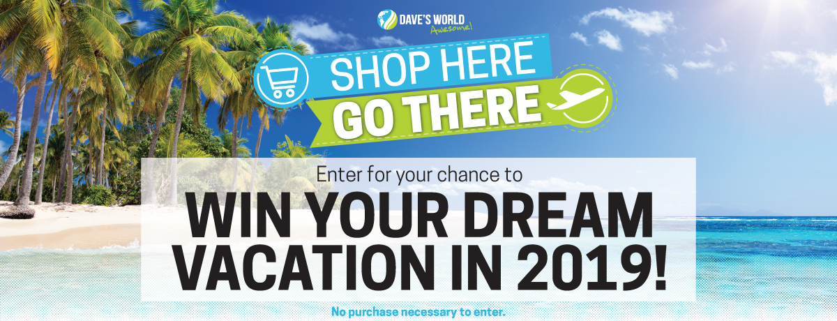 Dream Vacation Giveaway - Dave's World